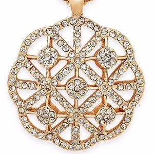 ✨  Gold-Tone Pavé Pendant Necklace